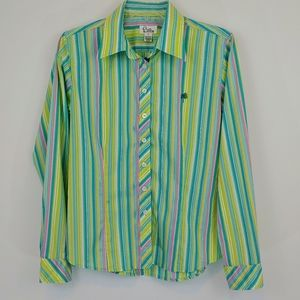 EUC Lilly Pulitzer Button-Down Striped Shirt
